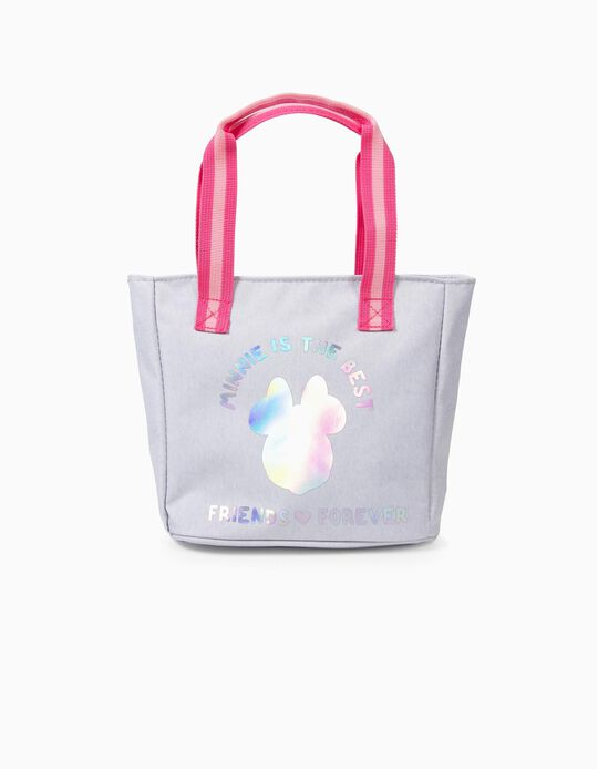 Sac Cabas Fille 'Minnie is the Best', Gris