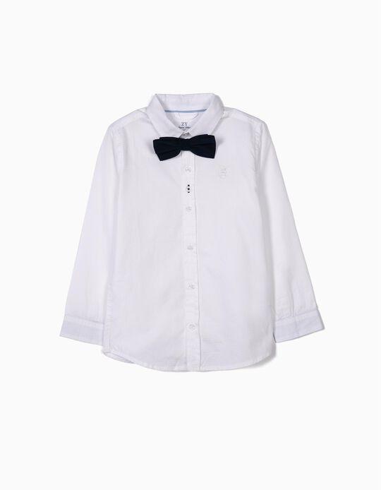 Camisa com Laço para Menino, Branco