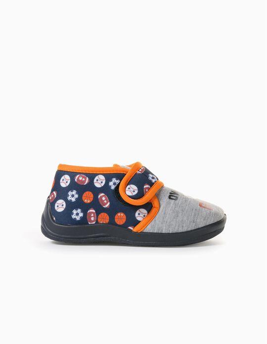 Zapatillas de Casa para Niño 'Sports', Gris/Azul