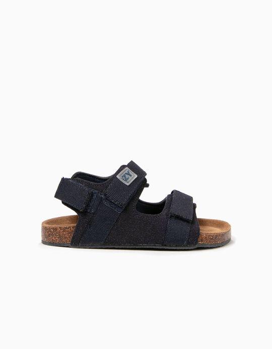 Sandálias para Menino com Velcro, Azul Escuro