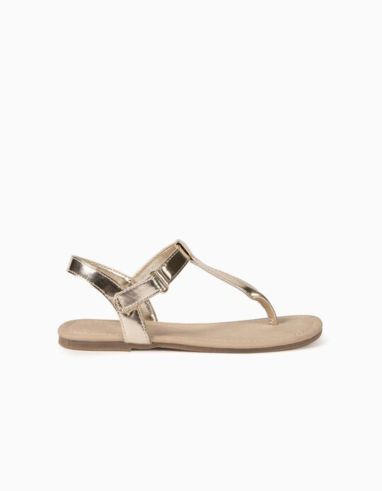 Sandals for Girls, Gold