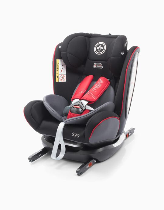 All Werdu Car Seat Gr0/1/2/3 by More, Black/Red