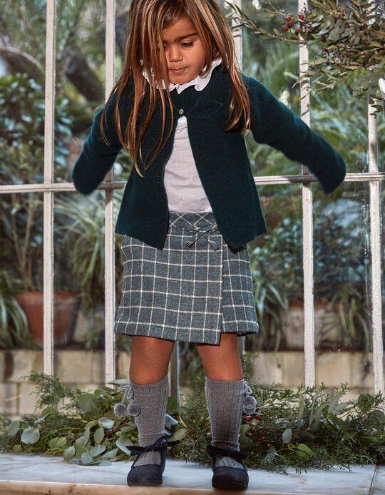 Saia-Calção Xadrez para Menina 'B&S', Verde