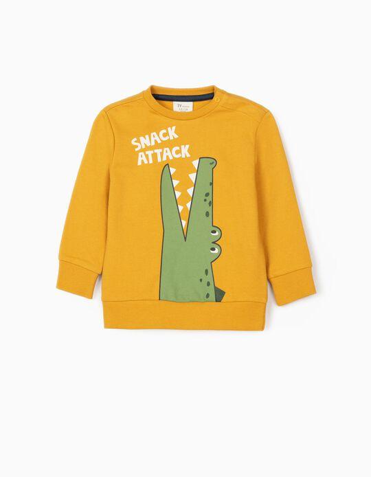 Sweatshirt para Bebé Menino 'Croc Snack Attack', Amarelo