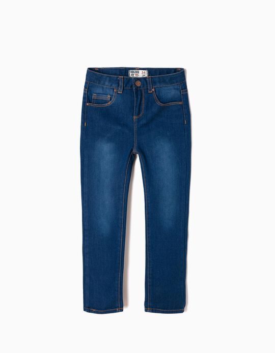 Slim Fit Jeans for Girls, Dark Blue