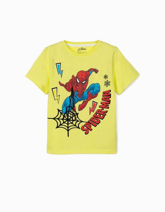 T-shirt for Boys, 'Spider-Man', Lime Yellow