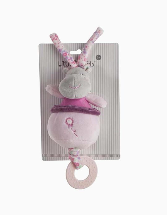 PELUCHE MUSICAL 15CM HIPPO LITTLE KIDS PINK