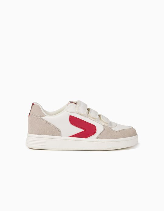 Trainers for Boys, 'ZY', White/Red