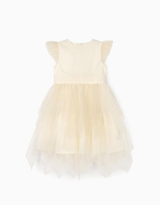 Vestido de Tul para Niña, Blanco