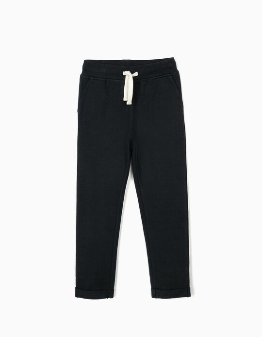 Pantalon de sport fille, bleu foncé