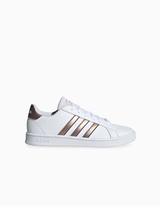 Zapatillas 'Adidas Grand Court', Blanco/Bronce