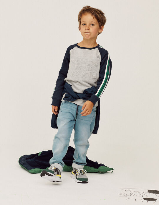 Denim Trousers for Boys, Light Blue