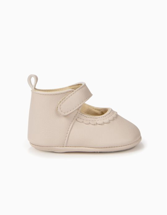 Sapatos para Recém-Nascida, Branco Pérola