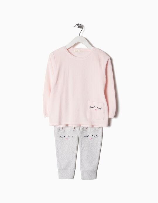 Pijama veludo e jersey