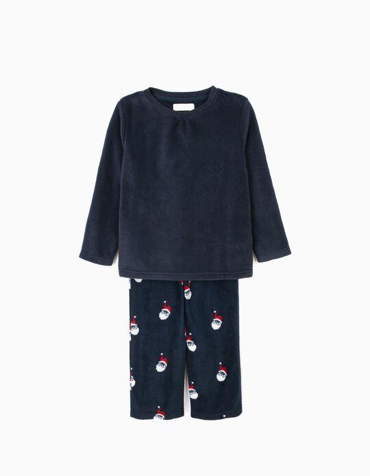 Pijama Polar de Manga Larga y Pantalón Papá Noel