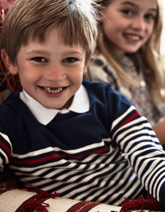 Jersey para Niño a 'Rayas', Azul Oscuro
