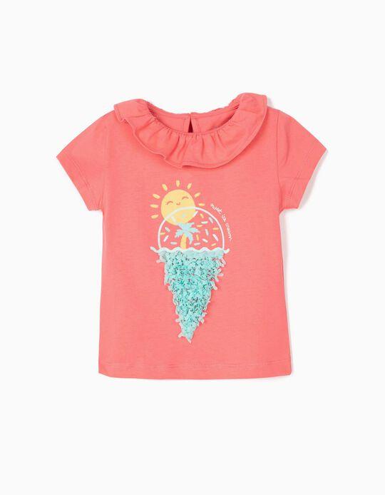 T-shirt for Baby Girls 'Sweet Ice cream', Pink
