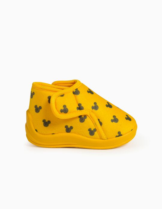 Slippers for Babies, 'Mickey Mouse', Yellow