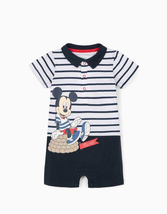 Mono para Recién Nacido 'Mickey', Blanco/Azul