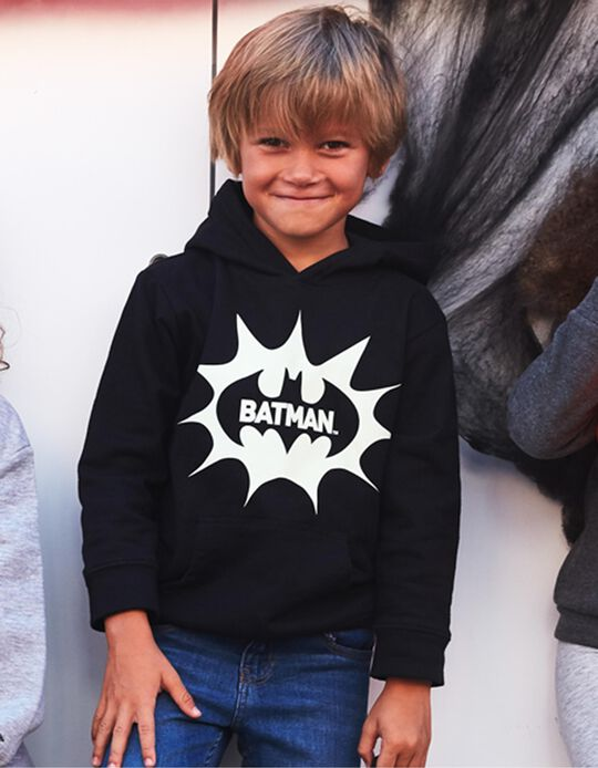 Sweatshirt com Capuz para Menino 'Batman', Preto