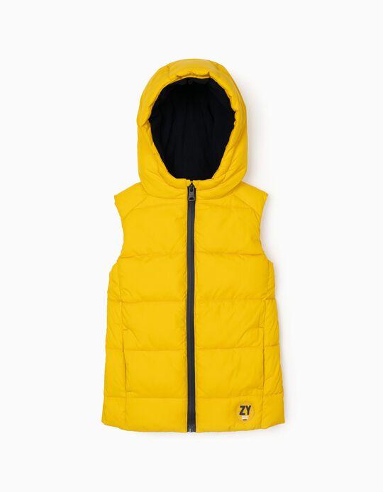 Sleeveless Padded Waistcoat for Boys, Yellow