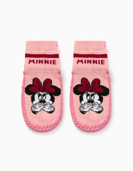 Non-slip Slippers Socks for Girls 'Minnie', Pink