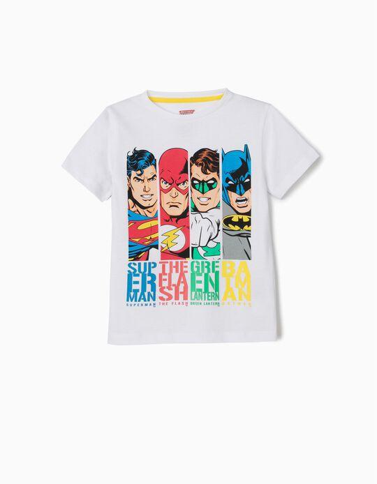 T-shirt para Menino 'Justice League', Branco