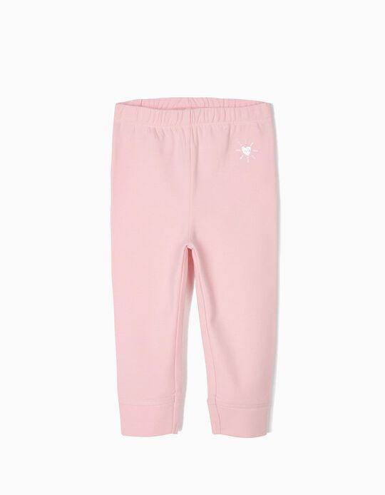 Pantalón de Chándal para Bebé Niña 'Love', Rosa