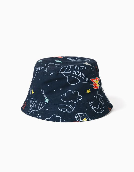 Hat for Babies & Boys, 'Space', Dark Blue