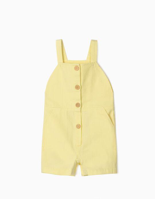 Macacão para Bebé Menina 'B&S', Amarelo