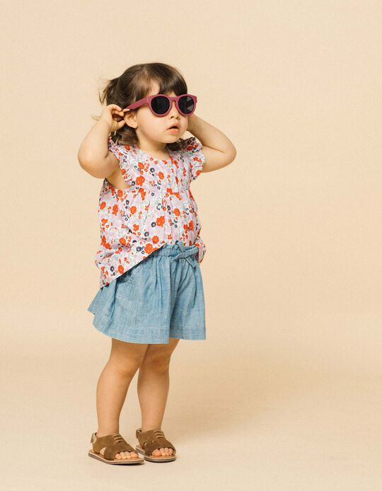 Gafas de Sol Flexibles para Niña, Rosa Oscuro