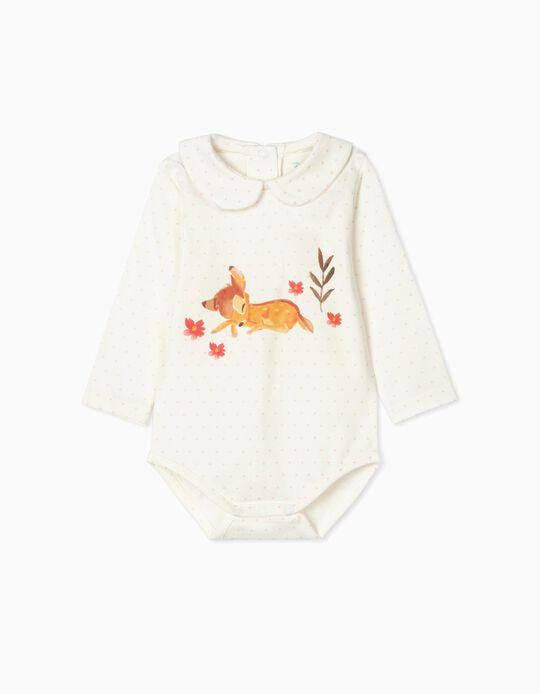 Body nouveau-née 'Bambi', blanc
