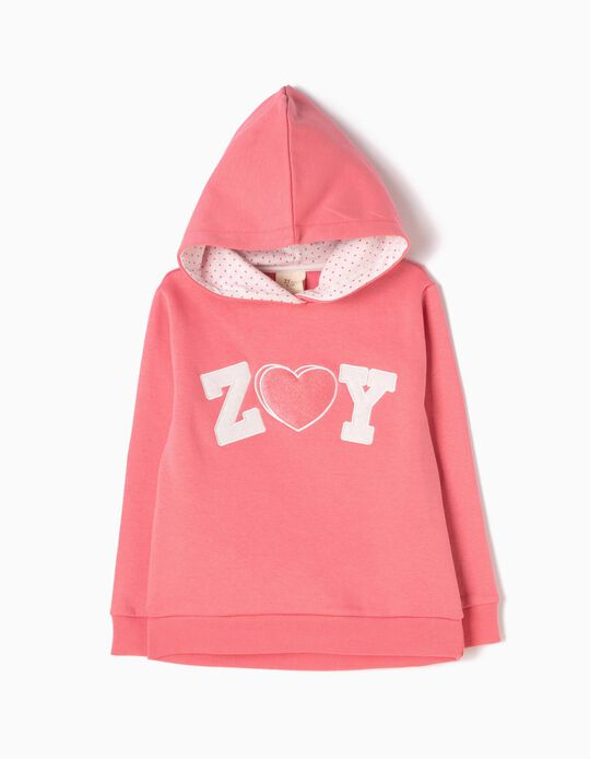 Sweatshirt com Capuz ZY Rosa