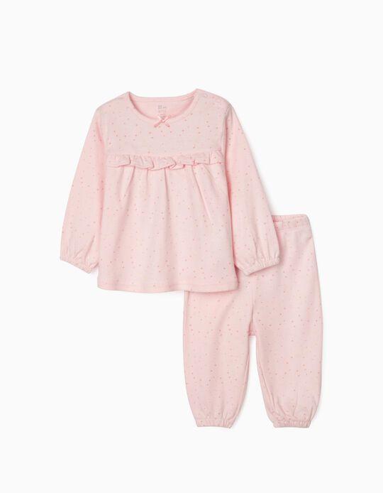 Pijama para Bebé Menina 'Stars', Rosa
