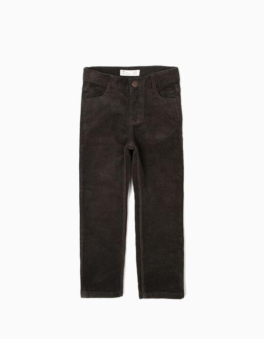 Pantalón de Pana Gris Verdoso