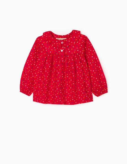 Blusa para Bebé Niña 'Hearts', Rojo