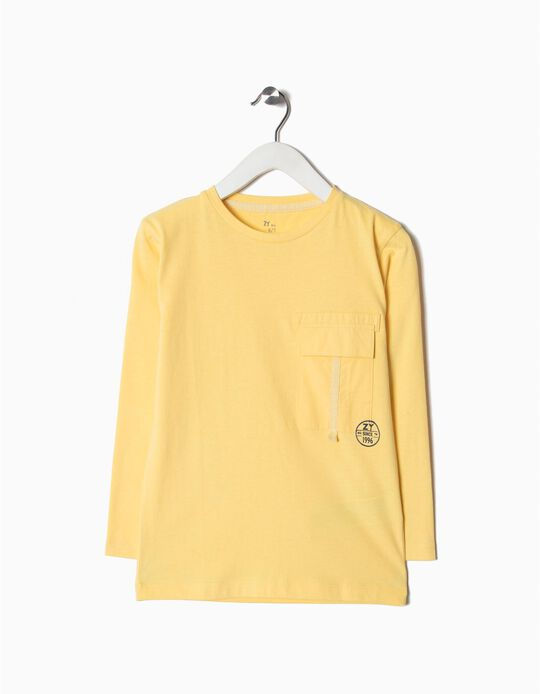 Camiseta Manga Larga Amarillo