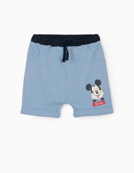 Jersey Knit Shorts for Newborn Baby Boys, 'Mickey Mouse', Blue