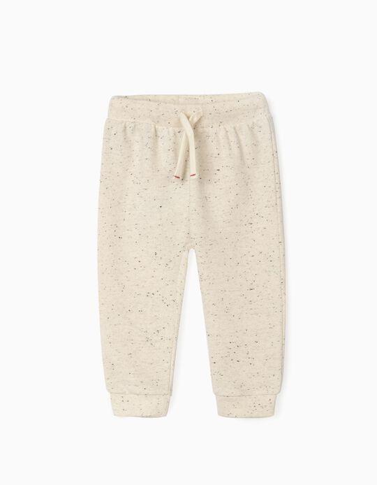 Pantalón de Chándal para Bebé Niño, Beige Jaspeado