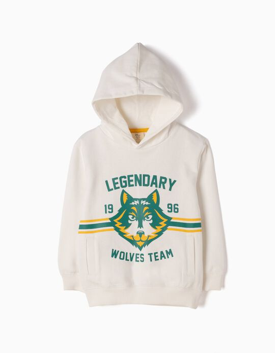 Sweatshirt Wolves Team Branca