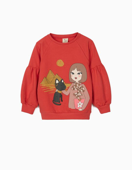 Sweatshirt for Girls, 'Egypt', Pink