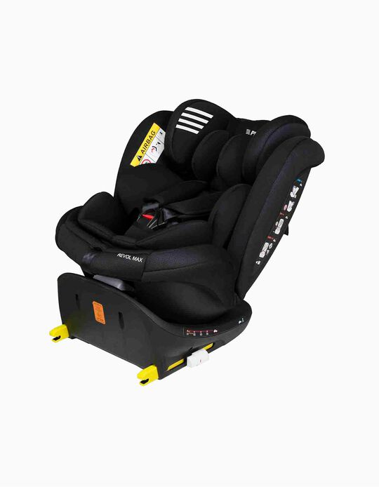 CADEIRA AUTO GR 0/1/2/3 REVOL MAX PLAY BLACK WINGS