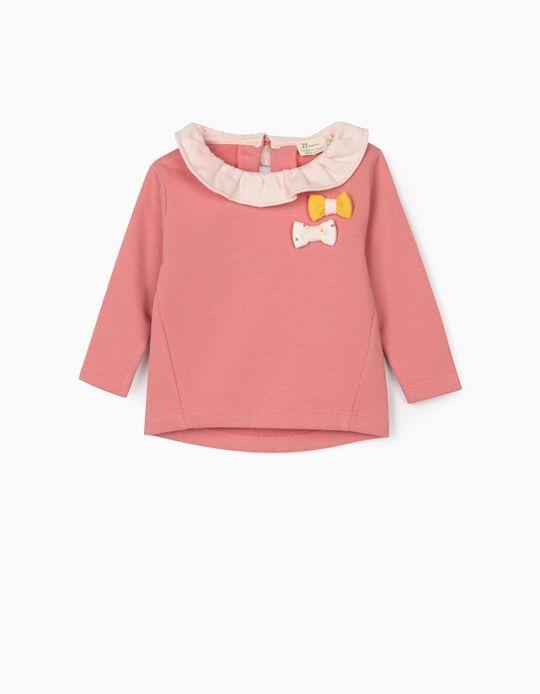 Sweatshirt para Recém-Nascida, Rosa