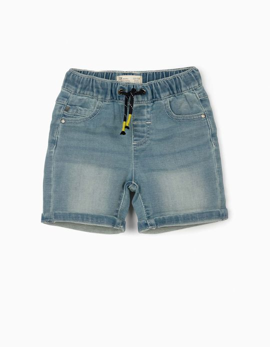 Denim Shorts for Baby Boys, Light Blue