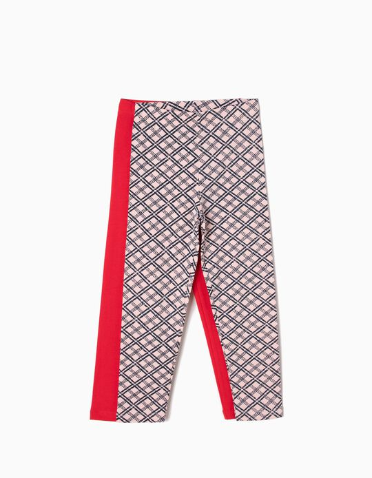 Pack 2 Leggings Rojo y Ajedrez