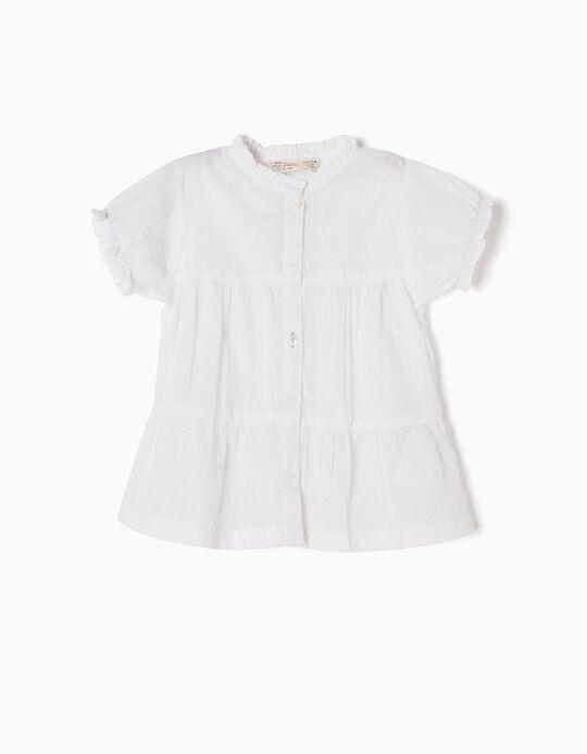 Blusa Branca Swiss Dot