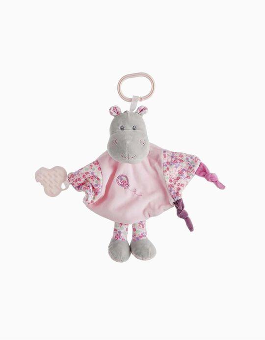 DOUDOU 26CM HIPPO LITTLE KIDS ROSE