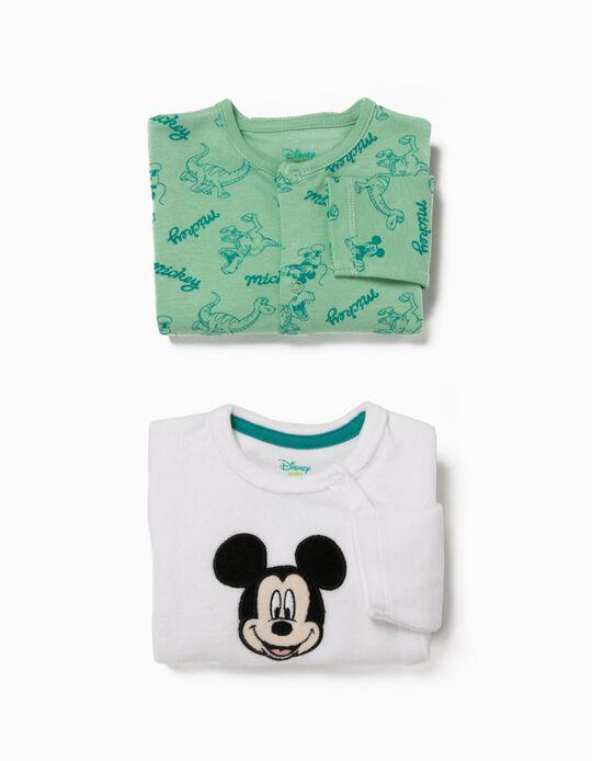 Pack 2 Babygrows Manga Comprida Mickey