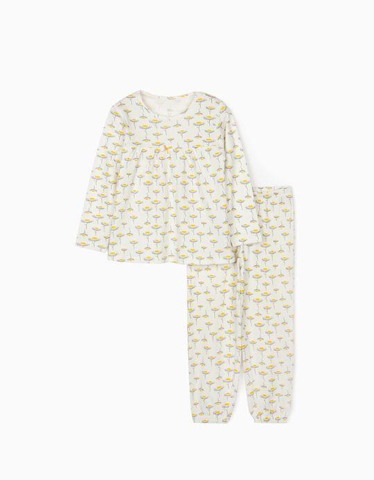 Pijama para Niña 'Flowers', Blanco