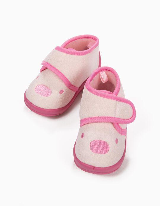 Zapatillas de Casa Rosa Osito